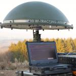 360° Peilantennen-Array IsoLOG 3D in NATO-Grün auf Stativ