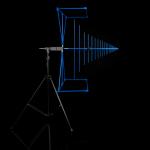 Direktionale Antennen für EMV-Messungen HyperLOG EMI auf Stativ