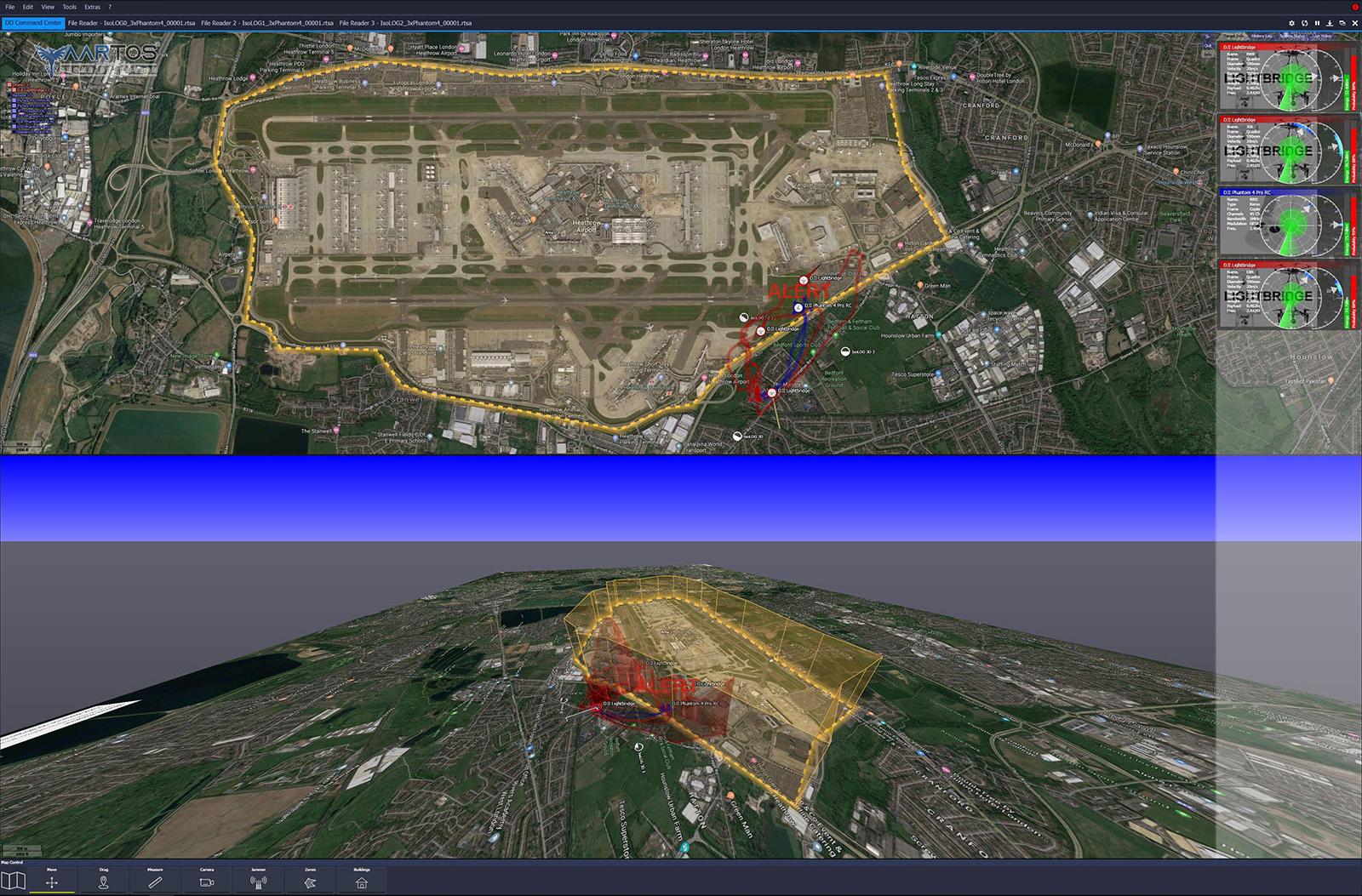 RTSA-Suite PRO - Zeitgleiche 2D/3D Ansicht