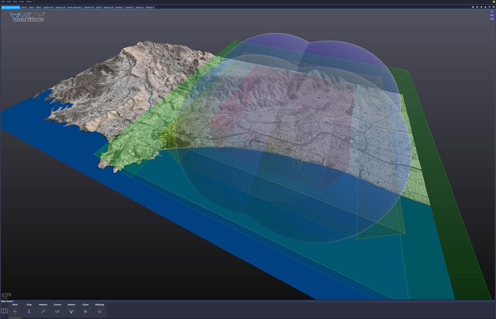 RTSA-Suite PRO - Alarm Zonen 3D