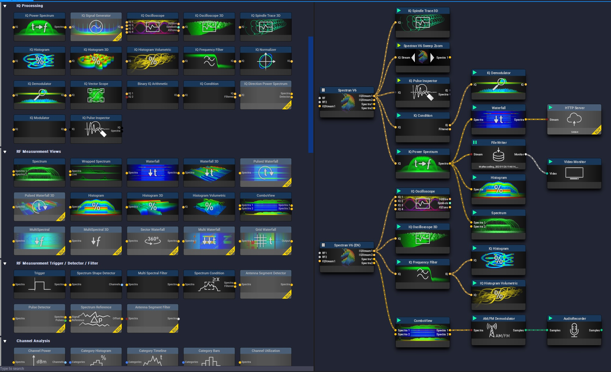 RTSA-Suite PRO - Blocks